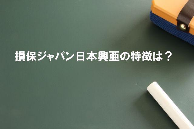 損保ジャパン日本興亜の特徴は?
